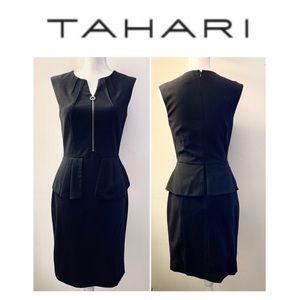 TAHARI by Arthur Levine black peplum dress